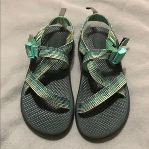 Chaco Teal Strappy Sandals EUC